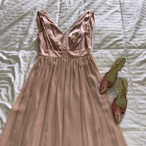 Vera Wang blush cocktail, wedding dress size 6